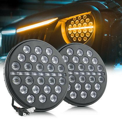 MICTUNING 7 Inch 80W LED Headlight DRL