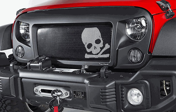 Spartan Grille Insert with Skull