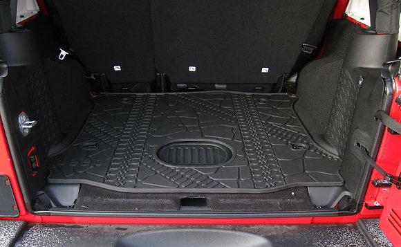 2015-2018 JK Rubber Trunk Mat 4-door w/ Subwoofer Cutout