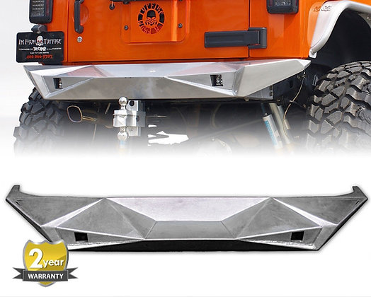 JK Aluminum Fury Series Rear Bumper - Black