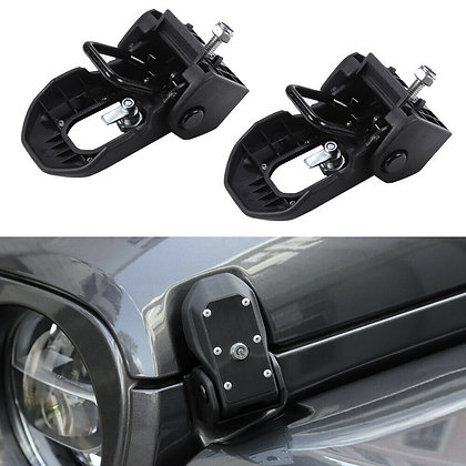 JL Hood Latches w/ Key- Black