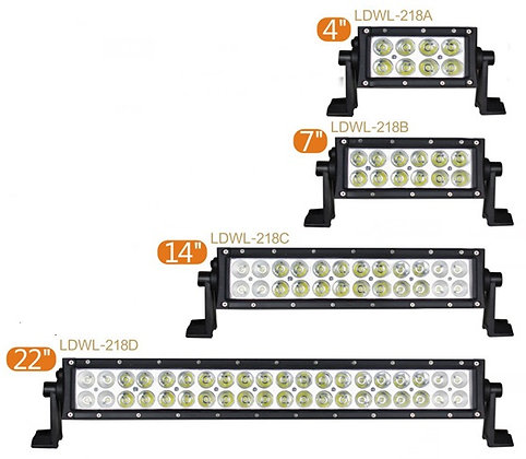 "21.5""-51.5"" LED Dual row bar light 218 Series"