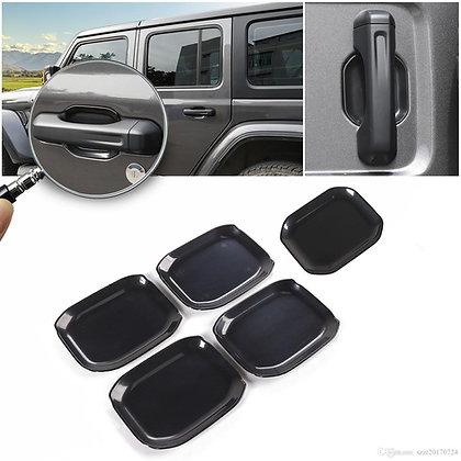 JL 4-Door Black ABS Car Exterior Door Handle Bowl Cover