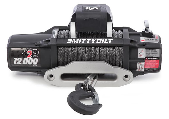 Smittybilt Gen2 X2O COMP Series 12,000 lb. Winch w/ Synthetic Rope &Wireless Ctr