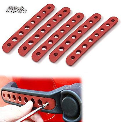 RED Alumimium Door Handle Trim Cover -  5pc
