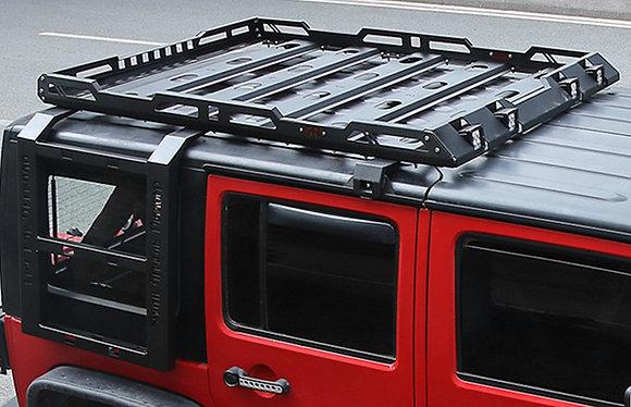 JK 4Door Steel Roof Rack w/ Ladder Roof Luggage