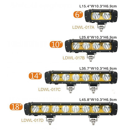 "22""-38"" CREE LED Single-Row Bar Light 017 Series"