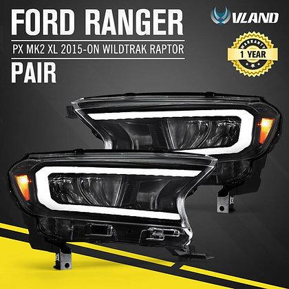 VLAND Ford Ranger Headlights 2015-on