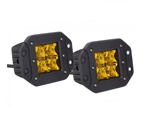 Flush Mount 4D LED Light Amber Color