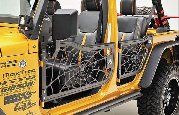 Spyder Web Tubular Doors for 4-door Jeep