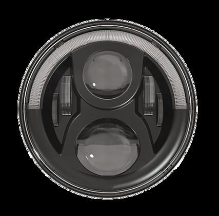 "7"" 90W LED Half Halo Ring Headlight -pair"