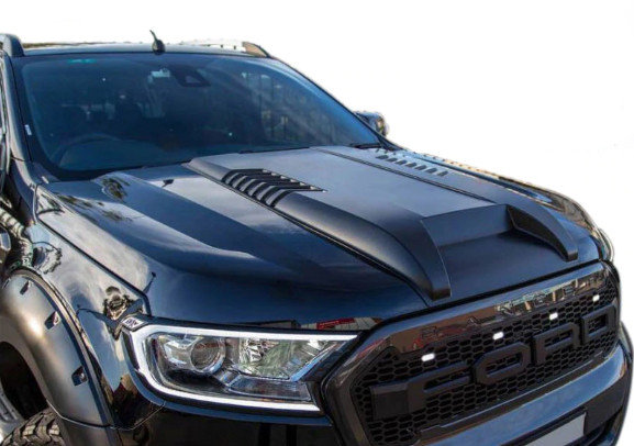 Ford Ranger T6/T7 Raptor Style Bonnet Scoop Matte Black