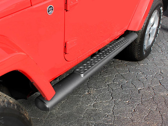 JK Oval Nerf Bars Side Step - 2door