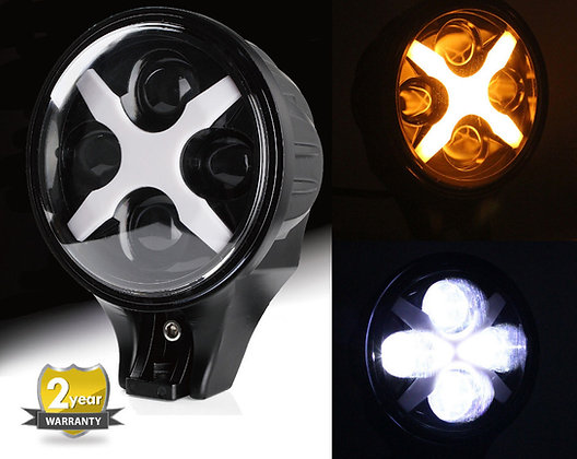 """6"""" 60W CREE LED with Amber Cover - Pair"""