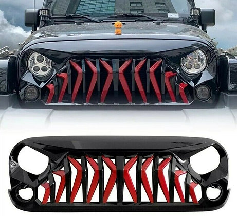 Mustang Grill Glossy Black Red