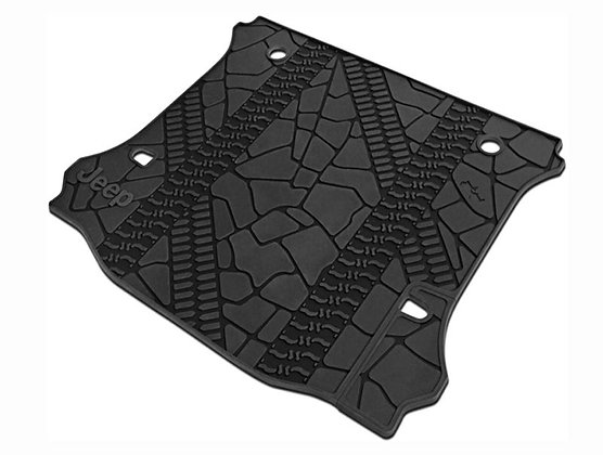 2012-2018 JK Rubber Trunk Mat 4-door w/o Subwoofer Cutout
