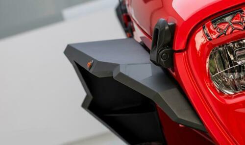 JL Aluminum Matte Black Fender Flares+LED Side Marker 4PCS