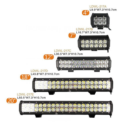 "4""- 46.8""CREE LED Dual row bar light 217 series"
