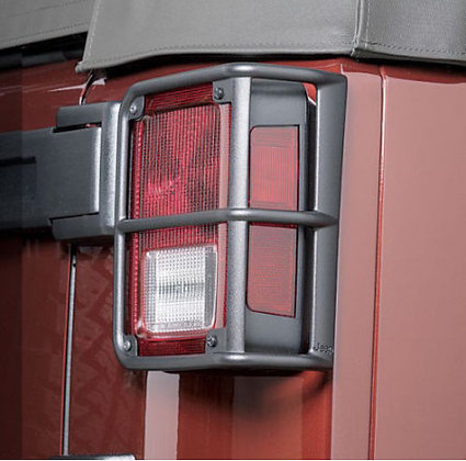 Aluminum Tail Light Protector with Jeep Logo