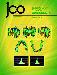 Orthodontist, Dr. Hongsheng Tong JCO Cover Page March 2016