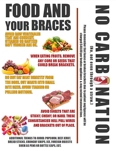 Diet Restrictions with Braces