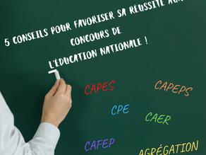 CAPES, CAPEPS, Agrégation : 5 conseils pour favoriser sa réussite aux concours de l'éducation