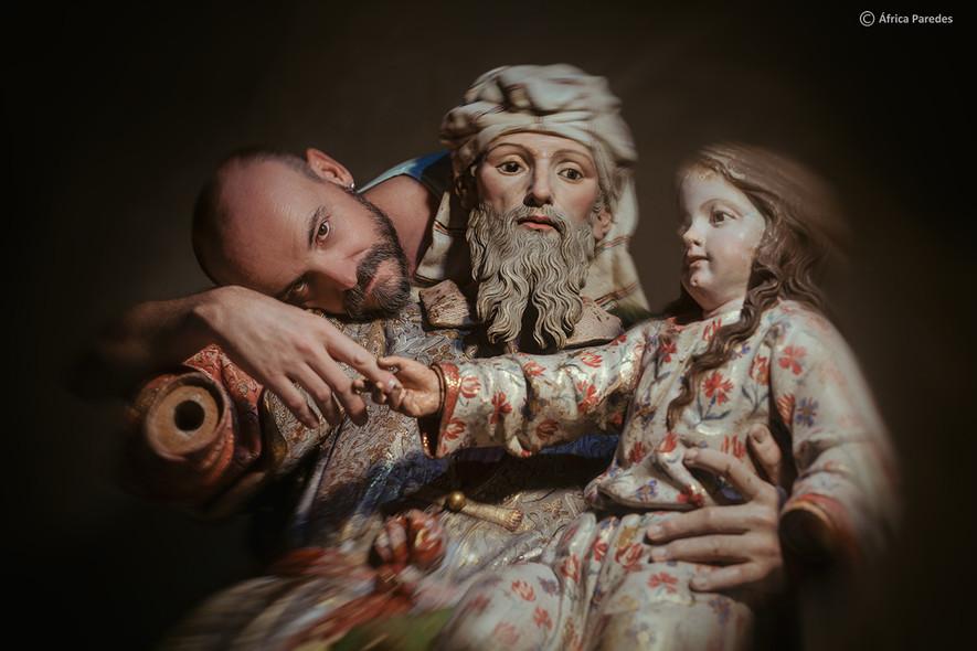 Antonio, San Joaquín y la Virgen niña