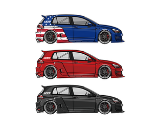 LEYO MK7 GTI STICKER PACK