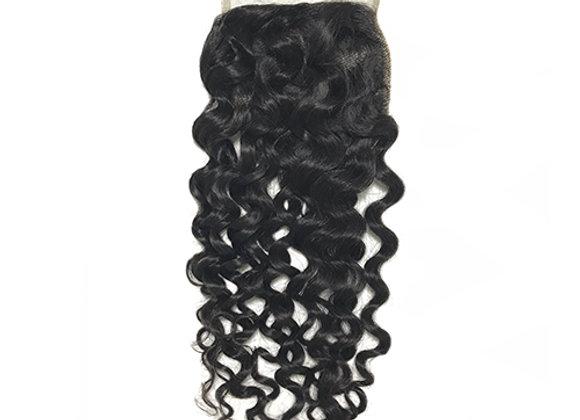 "Mink Italian Curly 4x4"" Lace Closure"
