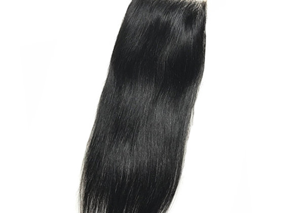 """Mink Silky Straight 4x4"""" Lace Closure"""