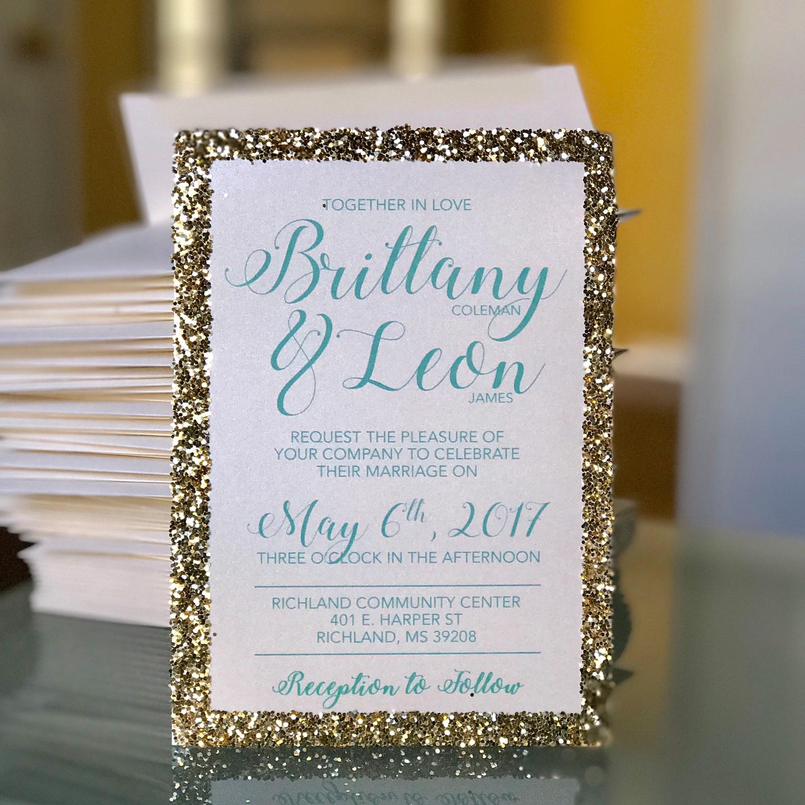 Glitter Invites