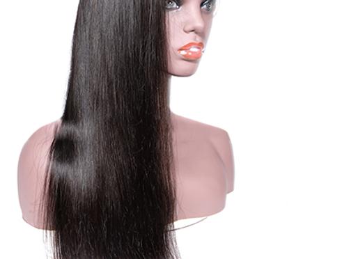 Brazilian Mink 1B Transparent Lace Front Wig