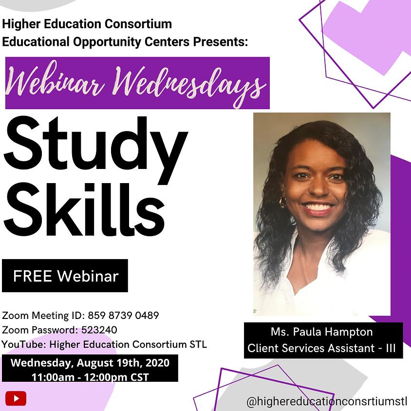 Webinar Wednesdays Study Skills