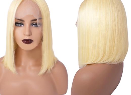 """Brazilian Blonde Bob 13x6"""" Swiss Lace Wig"""
