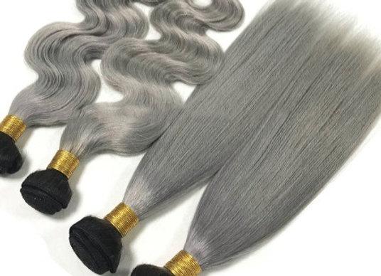 Mink Brazilian Gray Ombre Bundle