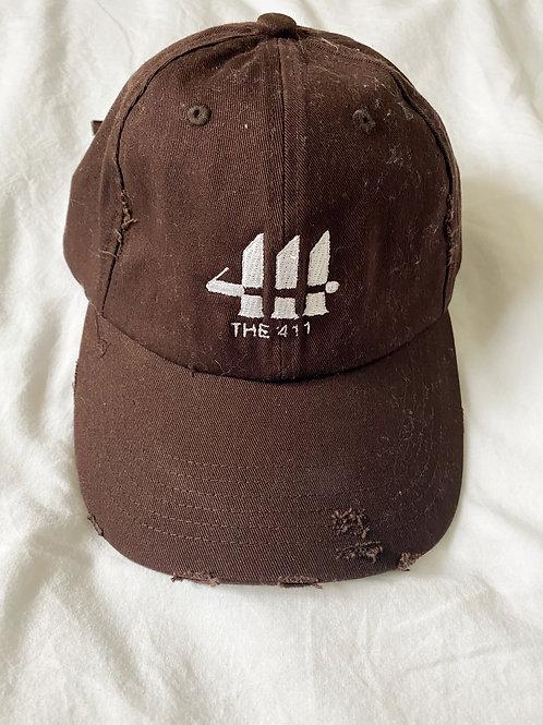 Brown Distressed Hat