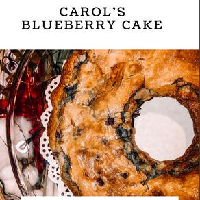The 411 on Carol's Blueberry Cake