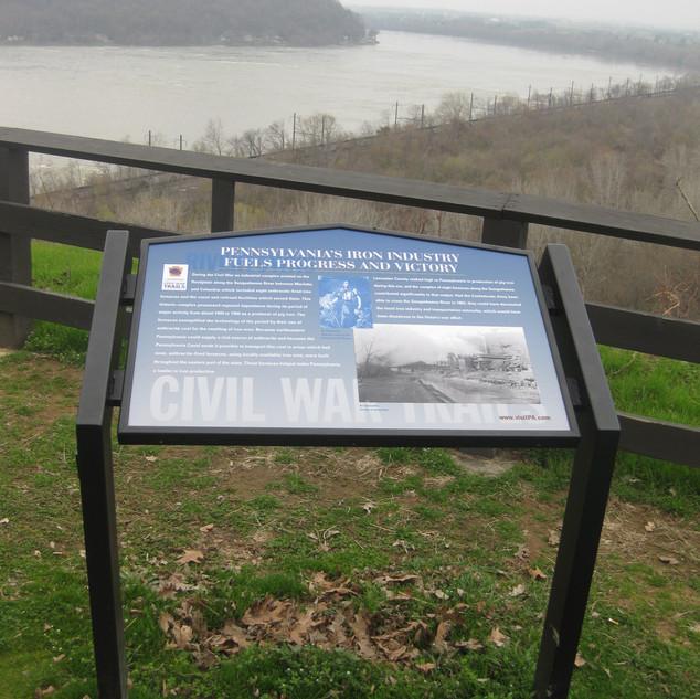 Interpretive Panel at Breezyview Overlook