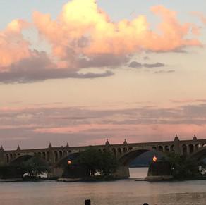 Sunset over the Columbia-Wrightsville Bridge