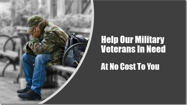 HELP VETERANS WITH ONLY A FEW MINUTES OF TIME. NO COST $$ TO YOU.