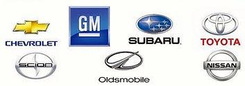 We work on Chevrolet, GM, Subaru, Toyota, Scion, Oldsmobile, Nissan