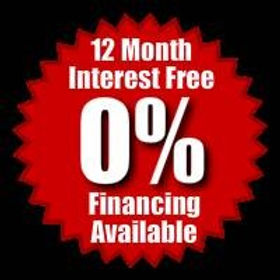 12 months Interest Free 0% Financing Available