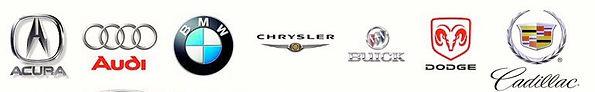 We work on Acura , Audi, BMW , Chrysler, Buick, Dodge, Cadillac