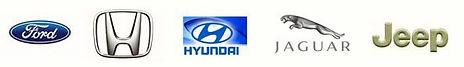 We work on Ford, Honda, Hyundai, Jaguar, Jeep