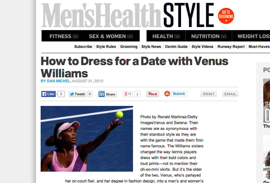 How To Dress For a Date with Venus..