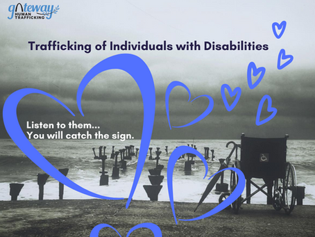 What is the relationship between having a disability and vulnerability to human trafficking?