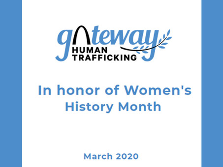 In honor of Women's History Month