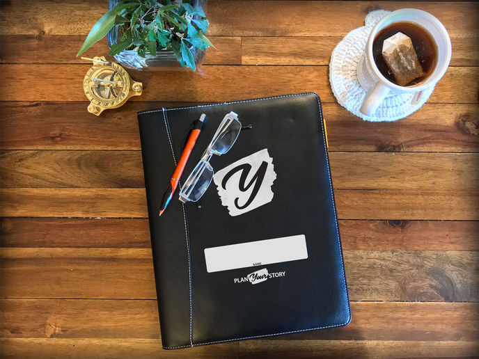 Your leather workbook. We chose paper because it's more personal.