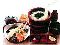 釜揚げ天ぷら定食