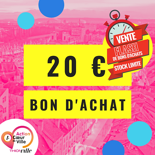 BON D'ACHAT 20€